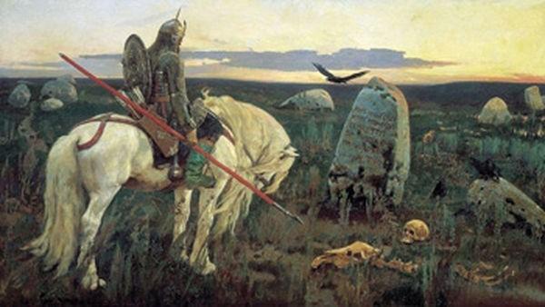 """Картина Васнецова """"Витязь на распутье"""""""