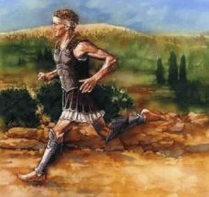 бег марафонца