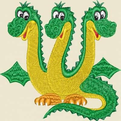 трехголовый дракон на трехлетие фирмы